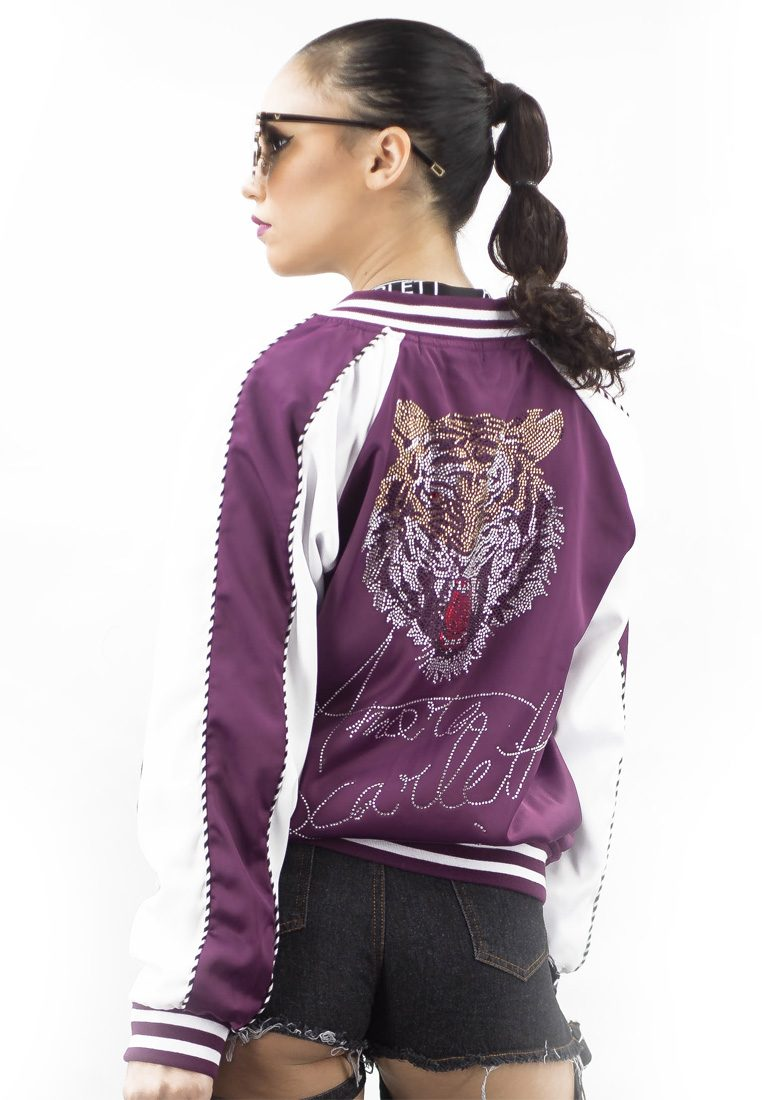 The Tiger-Toon Purple Bomber Jacket