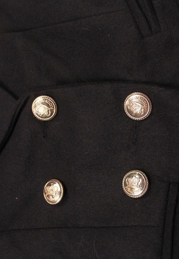 Classy Black Double Gold Buttoned Blazer