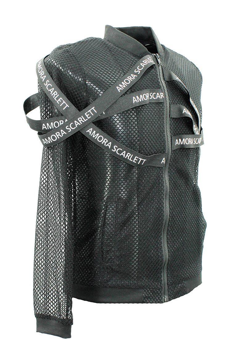 Meshed Strap Bomber Jacket