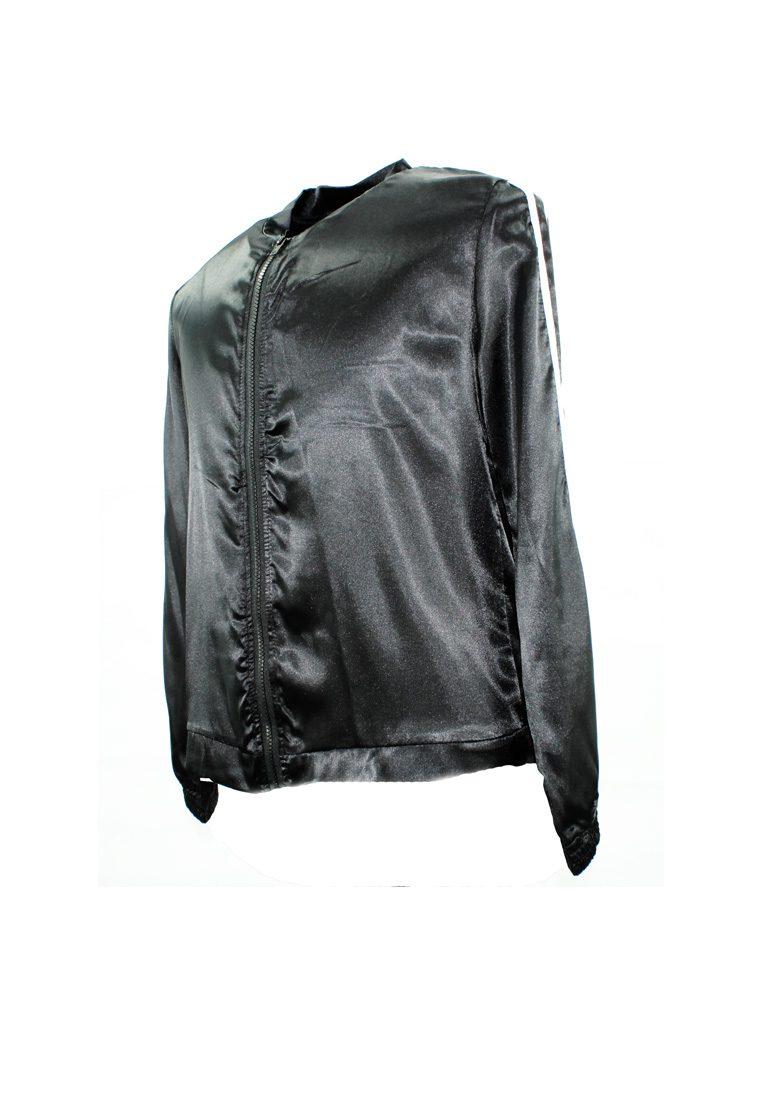 The Harimau Satin Long Pants Tracksuit Set in Black
