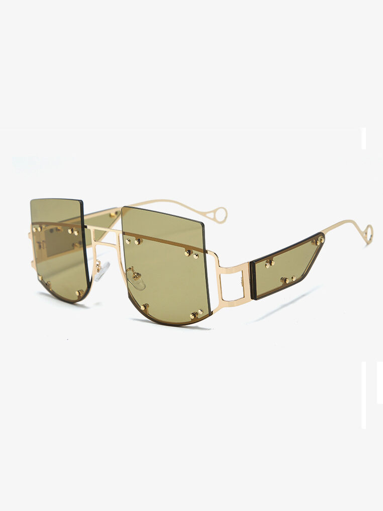 Elliott Sunglasses in Green Olive See Through