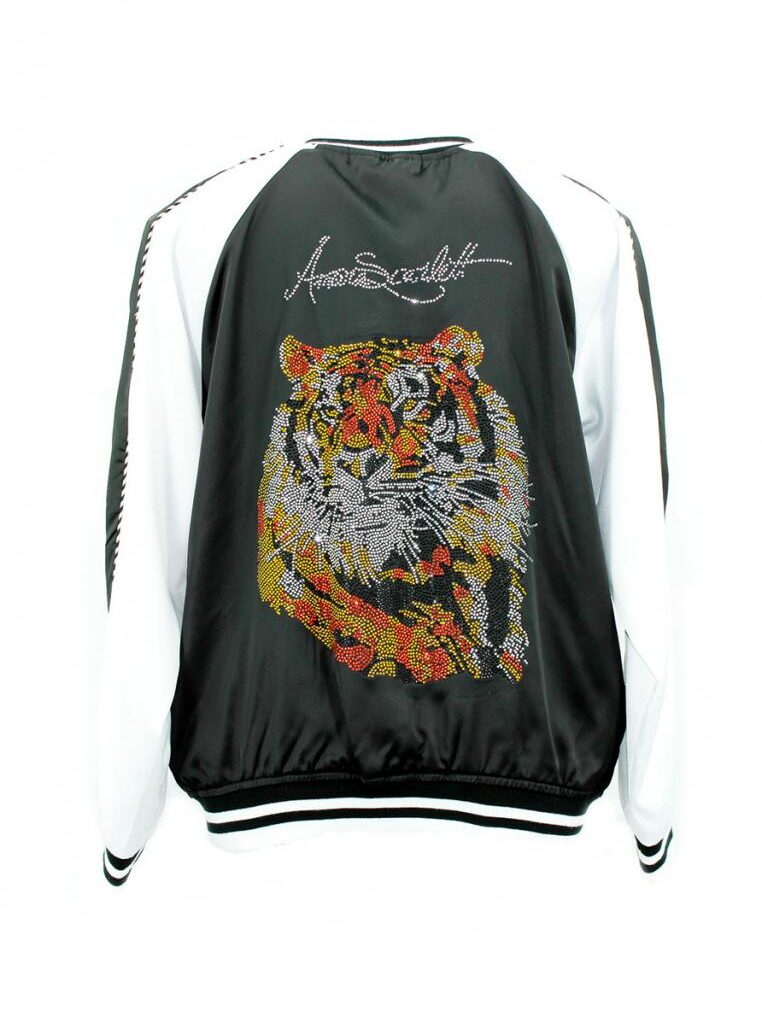 The Harimau Black Bomber Jacket