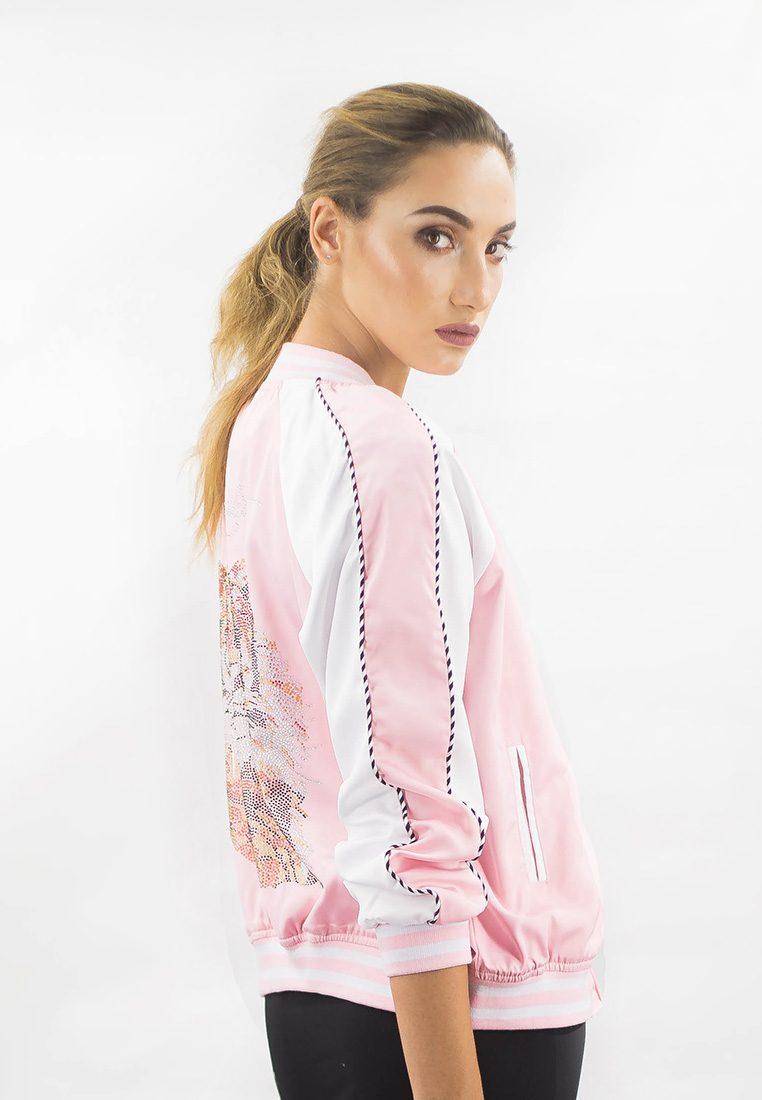 The Harimau Baby Pink Bomber Jacket