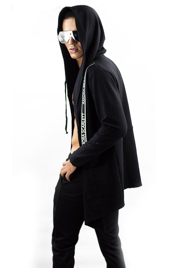 Strap Hoodie Jacket Noir Rope