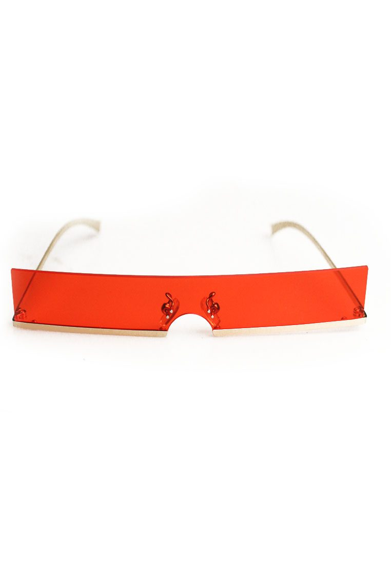 Ligne Red See Through Eyewear with Gold Chain