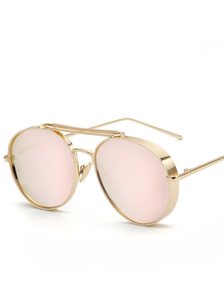 Aviator Thick Chrome Sunglasses