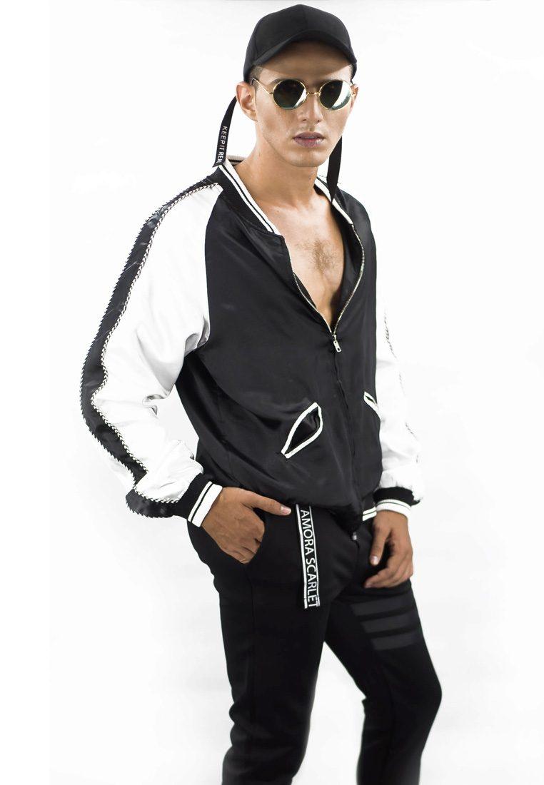 The Harimau Black Bomber Jacket
