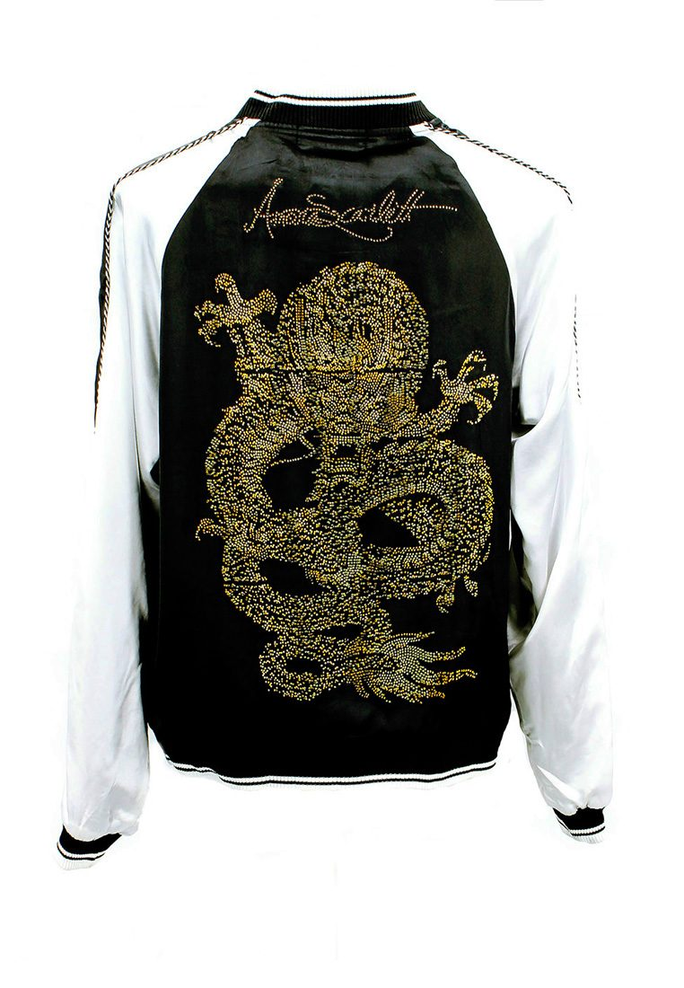 神龙 Shinryuu Dragon Black White Bomber Jacket