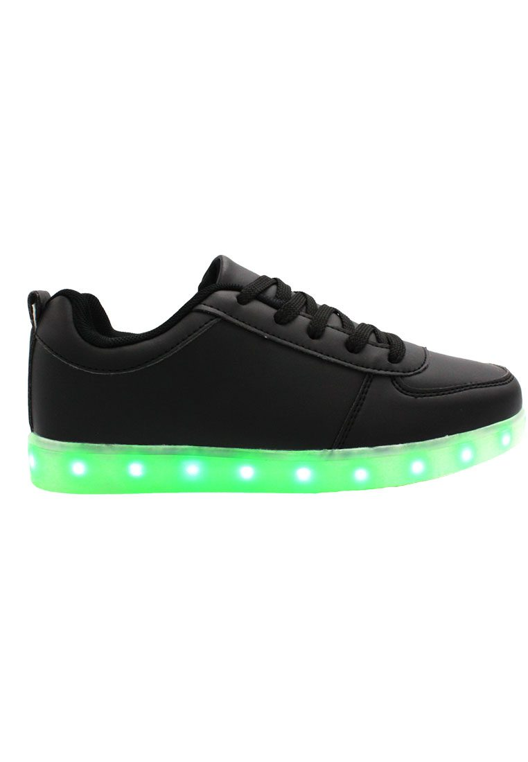 Edit Product LED 7 Colors Animated Lights Low Top Black Laced Shoes