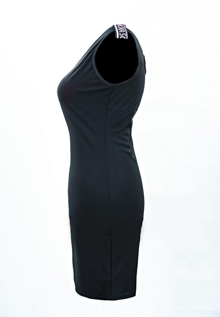 Sleeveless Strap Black Dress