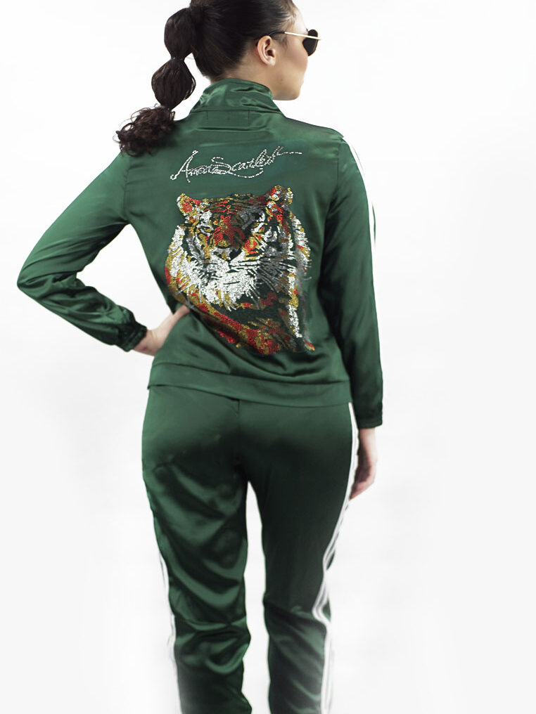 The Harimau Green Tracksuit Longpants Set