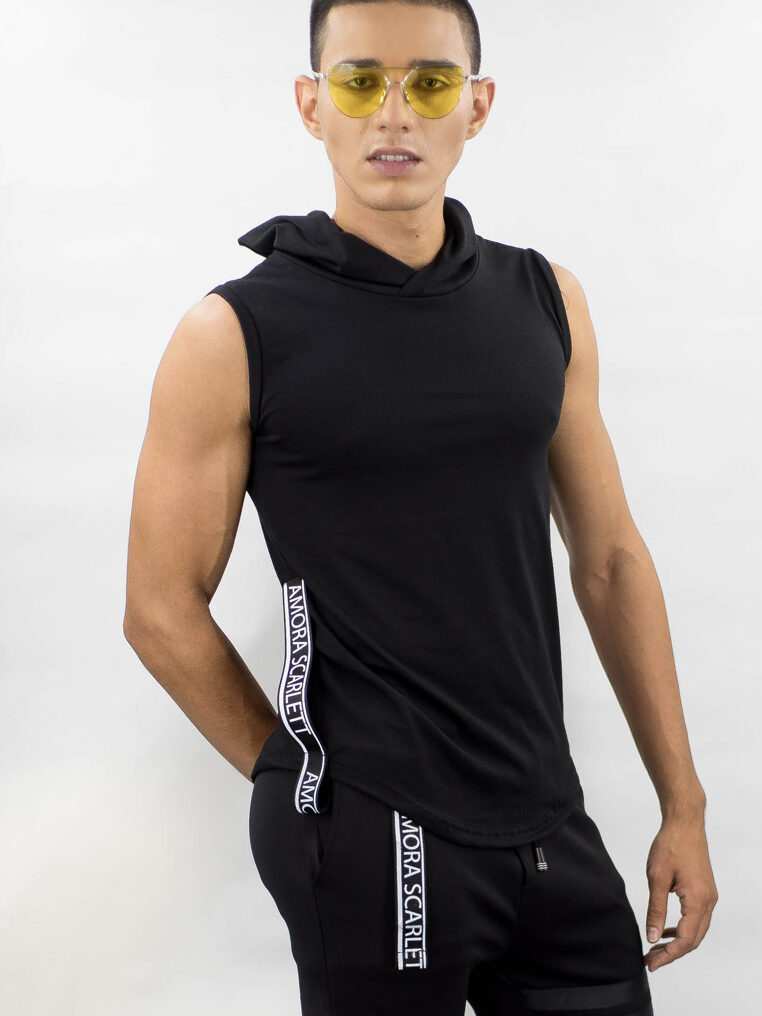 Hoodie Strap Fitting Sleeveless Top