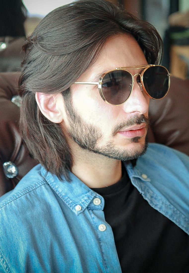 Aviator Thick Chrome Sunglasses