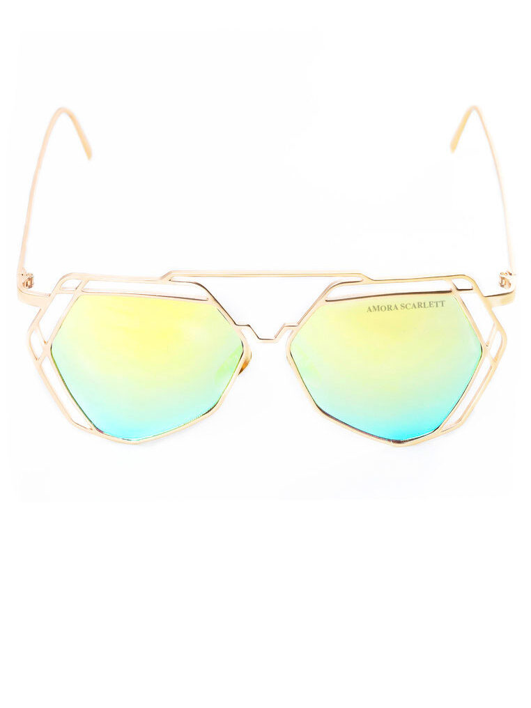 Arty Green UVA UVB Protection Sunglasses