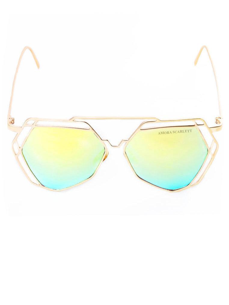 Arty Green UVA UVB Protection Sunglasses