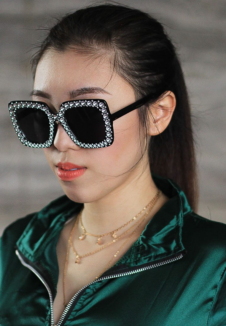 Bling Oversized Eyewear Amora Scarlett