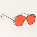 Red See Through Sunglasses by Amora Scarlett